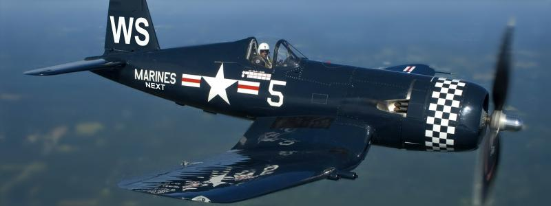 The F4U Corsair became the stuff of legend, shooting down 2,140 enemies at 11 to 1.<BR> The first Allied fighter to be able to counter the threat of the A6M Zero. Originally a US Navy carrier-based fighter it's use was expanded to land-based by the US Marines. Japanese forces grew so accustomed to Corsair strikes and their accompanying dive sound that they nicknamed the American aircraft Whistling Death